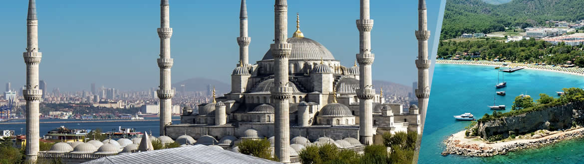 Turkey: Istanbul and the Turkish Coast (Antalya), tailor-made including beach holiday