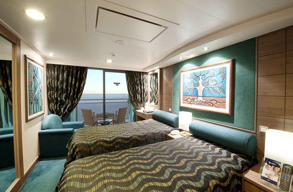 Ship categories and cabins msc poesia msc cruises for Types of balcony