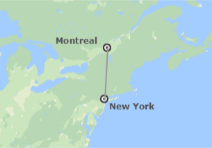 Montreal on us map