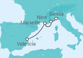 Italy, France, Spain Cruise itinerary - MSC Cruises