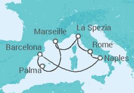 Western Mediterranean Cruise Itinerary