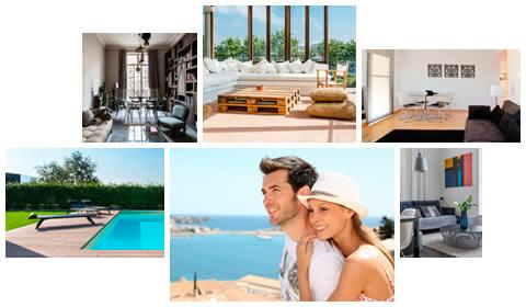 Holiday rentals of apartments and villas